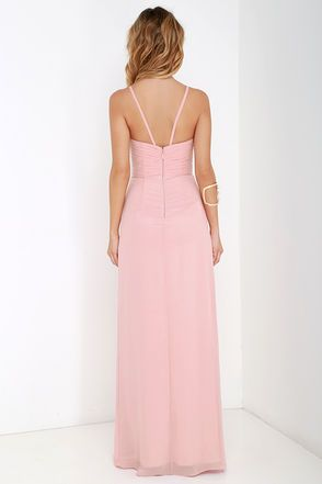 Bariano Test of Time Blush Pink Maxi Dress at Lulus.com!