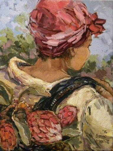 Lena se veldblomme   Aviva Maree Art