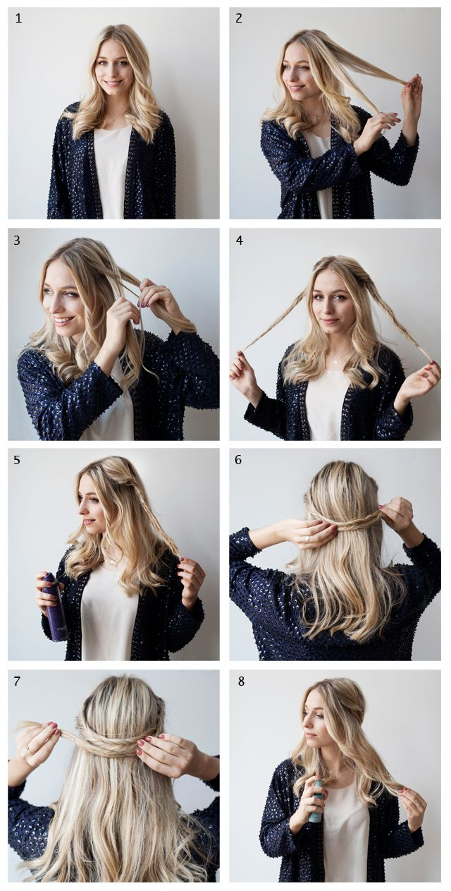 Fishtail braided headband #hair #tutorial