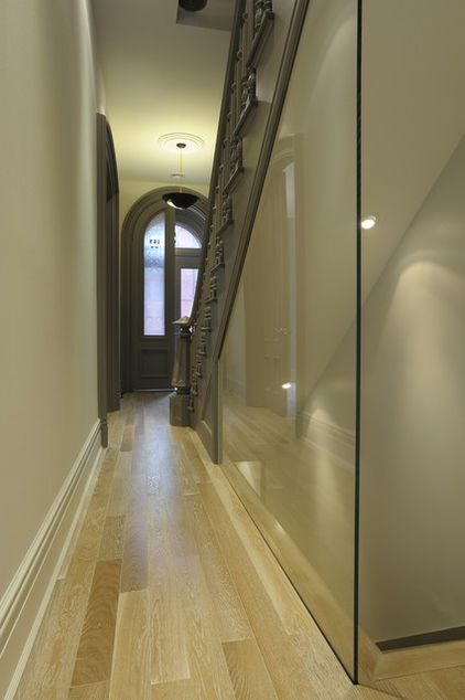 Narrow Foyer Stairs : Best images about ideal home glass partition on