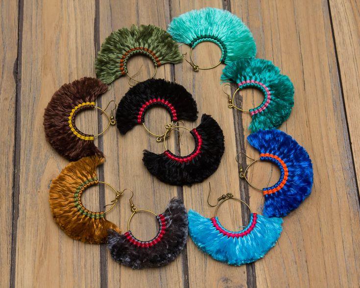Glands de Hoop boucles d'oreilles/hippie/Bohème par CHEZMOIMYHOME