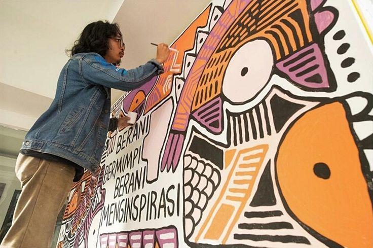 "Check out my @Behance project: ""Mural at Kelas Inspirasi Exhibition by Popomangun"" https://www.behance.net/gallery/45487837/Mural-at-Kelas-Inspirasi-Exhibition-by-Popomangun"
