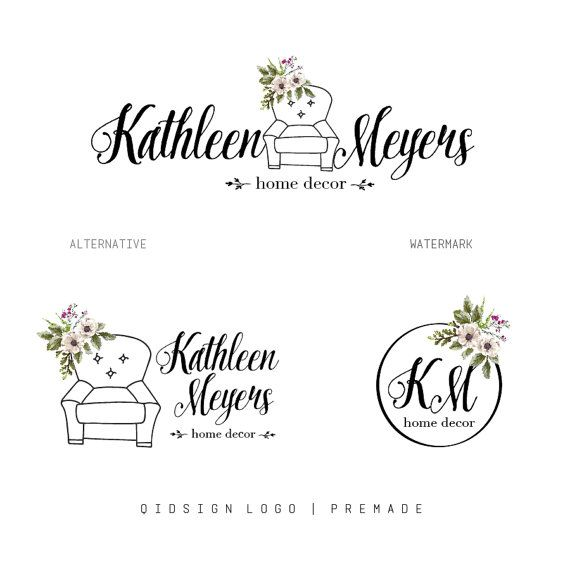Hey, I found this really awesome Etsy listing at https://www.etsy.com/listing/263215109/floral-logo-premade-logo-package