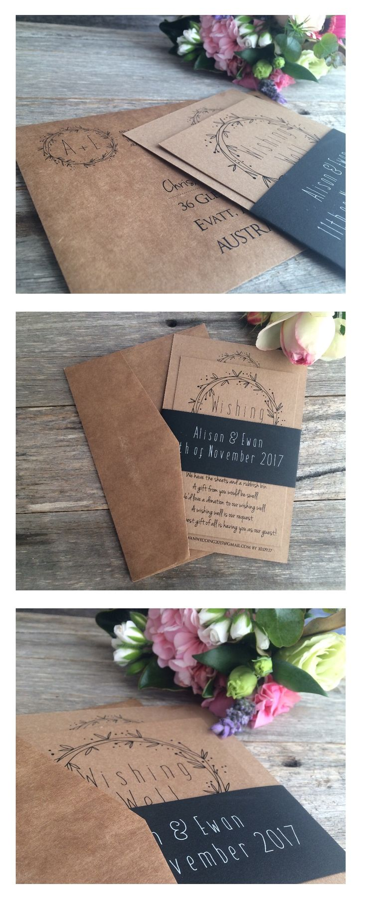 deer hunter wedding invitations%0A Wedding Invites Rustic  Wedding Invitation Suite  Boho Wedding  Wedding  Cards  Wedding Stationery  Belly Bands  Invitations