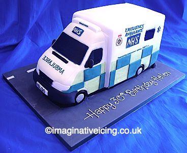 3D NHS Ambulance Birthday cake