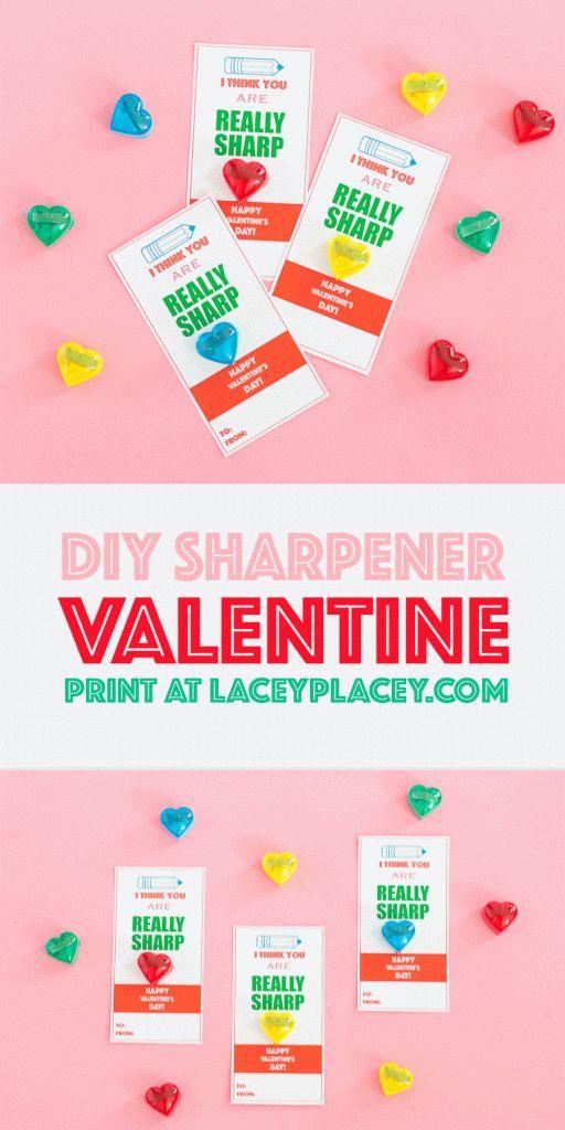 DIY Sharpener Valentine – Lacey Placey  – K i d S t u f f