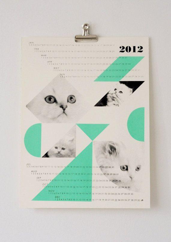 fieldguided dreamcats 2012 calendar, mint