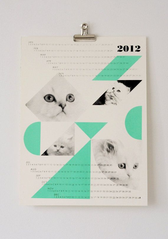 dreamcats 2012 calendar, mint @Kristina Kilmer Hyatt! just for you
