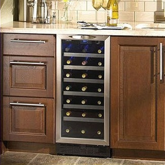 "Features:  -With the Danby Silhouette DWC1534BLS 3.7 Cu. Ft. 34-Bottle Wine Cooler you can get rid of the trash compactor and make room for a contemporary replacement. At 15"" wide, this trendy wine co"