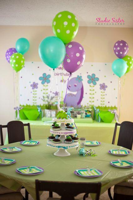 "Photo 21 of 22: Girls Dinosaur Birthday Party / Birthday ""Darling Dinos"" | Catch My Party"