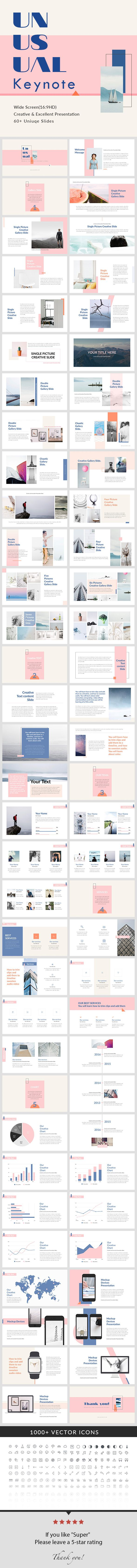 Unusual - Keynote Presentation Template - Creative Keynote Templates. Unique Presentation design.