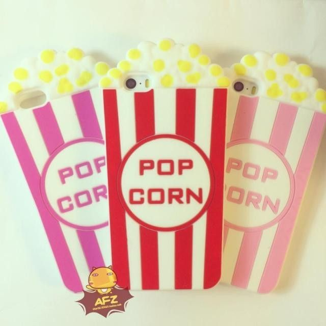 Popcorn Phone Case for iPhone 5s 5,3D Vivid Silicon Pop Corn Looks,Soft Phone Cover free shipping $4.55