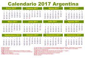 Resultado de imagen para calendario oficial 2018 argentina
