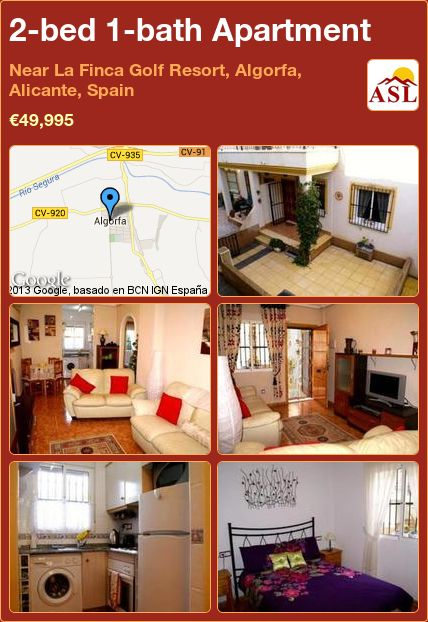 2-bed 1-bath Apartment in Near La Finca Golf Resort, Algorfa, Alicante, Spain ►€49,995 #BargainPropertyInSpain