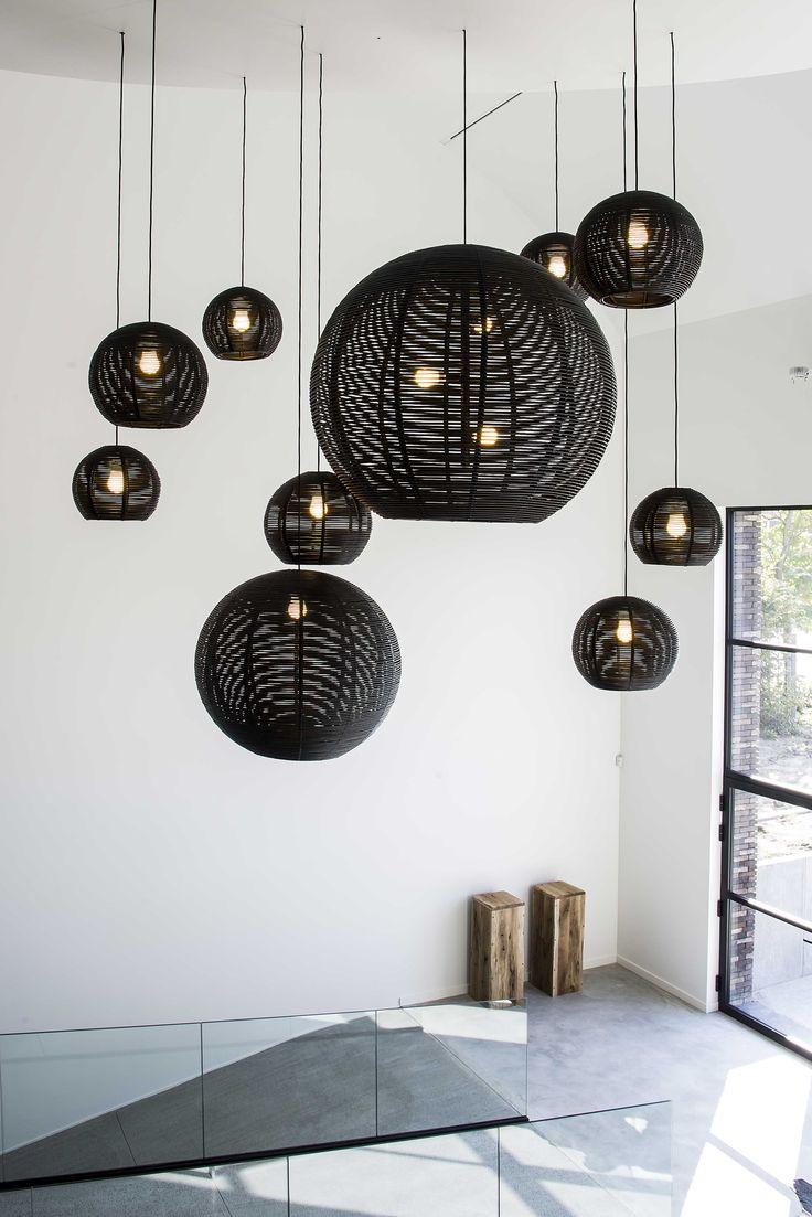 FREYA HOME STYLING DARK SANGHA ('s) black interior design #lighting #project at…