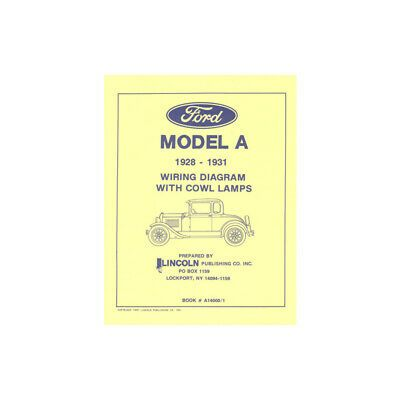 Model A Ford Electrical Wiring Diagram For Cars With Cowllamps 28 21356 1 Ebay In 2020 Electrical Wiring Diagram Electrical Wiring Ford