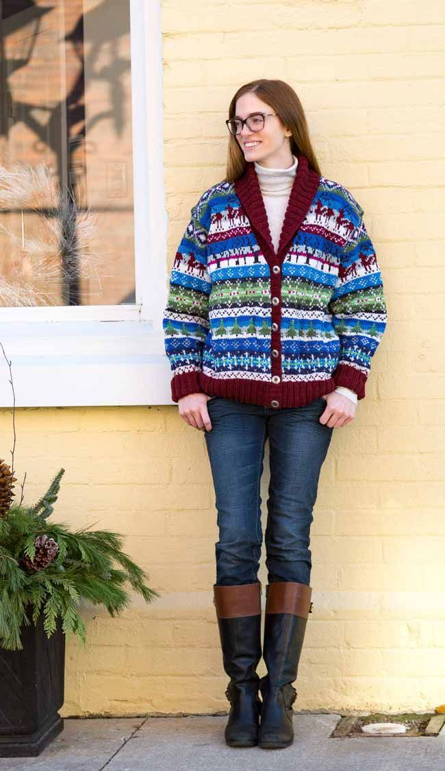 Snowflakes & Evergreens Cardigan designed by Denise Powell for ANPTmag Winter 2016 Issue. The Snowflakes and Evergreens Cardigan is a Fair Isle cardigan with winter elements which will quickly become a favourite during the cold winter months. The large shawl collar can be turned up against a windy day and the sleeves are …