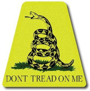 Reflective Firefighter Helmet Tetrahedron Fire Helmet Stickers - Gadsen Don't Tread On Me Flag