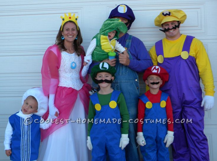 coolest super mario family theme costumes - Monsters Inc Baby Halloween Costumes