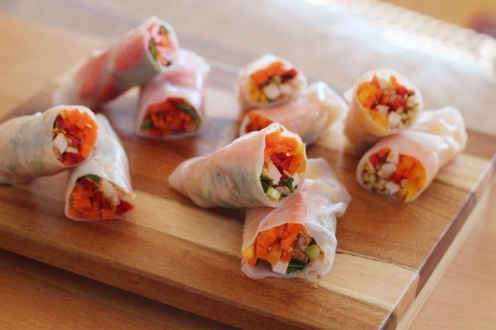 """Als ik in een Vietnamees restaurant ga eten en ik zie """"spring rolls"""" op het menu staan, dan móét ik deze bestellen. Ik vind ze zó lekker. Thuis maken vind…"""