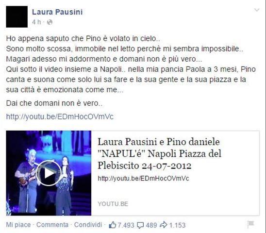Addio a Pino Daniele: il dolore dei colleghi sui social