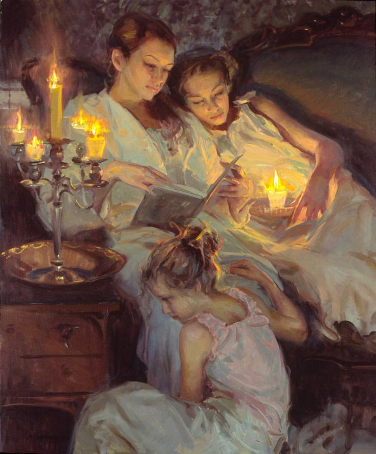 Daniel Gerhartz - Reading by candlelight.