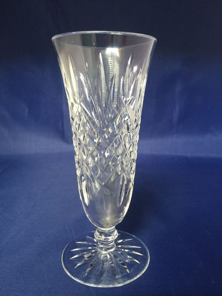 Details About Waterford Crystal Footed Bud Vase Ashbourne Pattern 7 Quot Ireland In 2019 Crystal