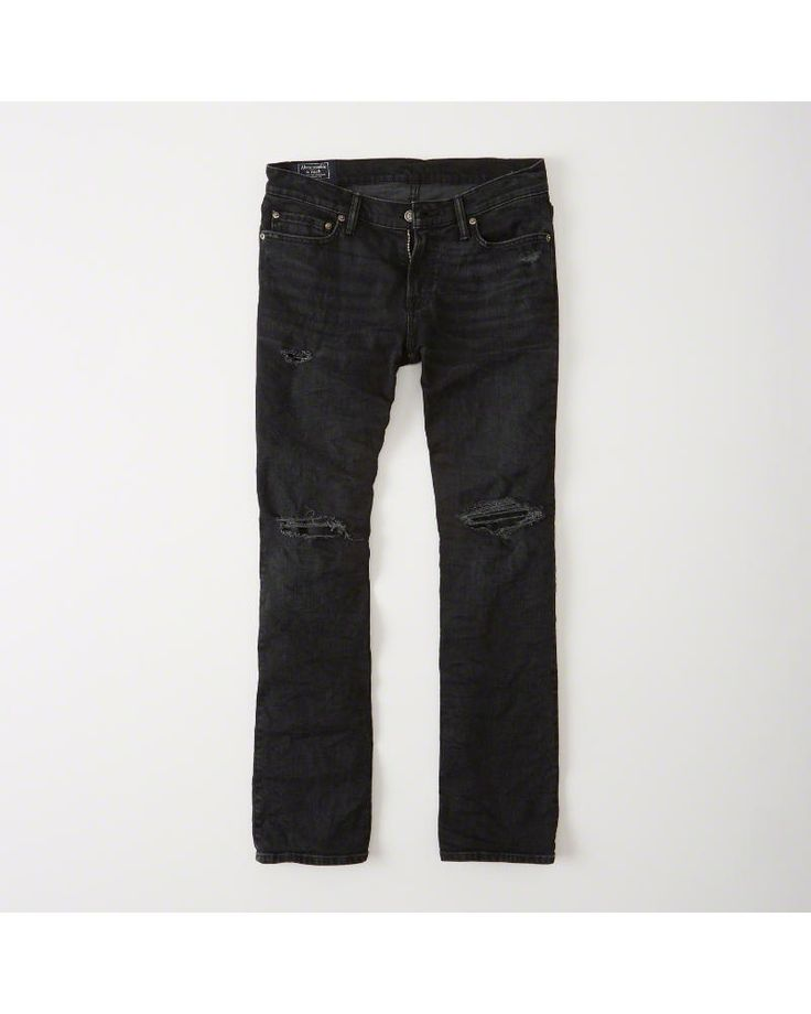 A&F Men's Bootcut Jeans in RIPPED Black - Size 29 X 32