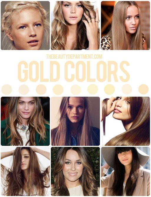 Gold Hair Tones including Valeria Sokolova