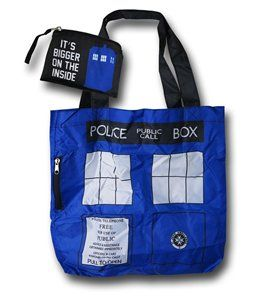 Doctor Who Tardis Packable Tote Bag