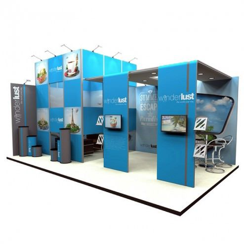 Stand d'exposition 8x4m
