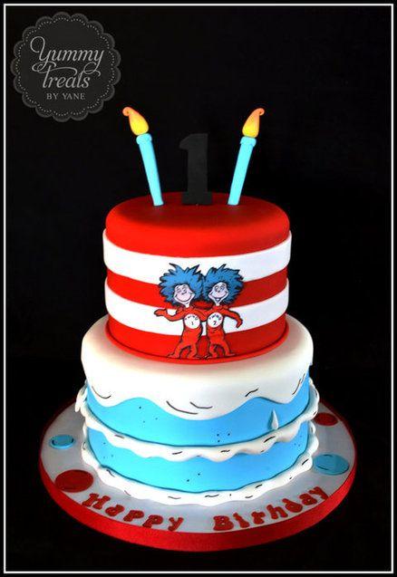 Thing 1 and Thing 2 Cake!  Cake by YummyTreatsbyYane