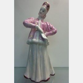 "Фарфоровая статуэтка ""Лебедушка"" (Плясунья). Дулево. ,  Фарфоровые статуэтки"