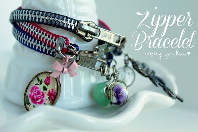 a zipper bracelet tutorial ... ♥