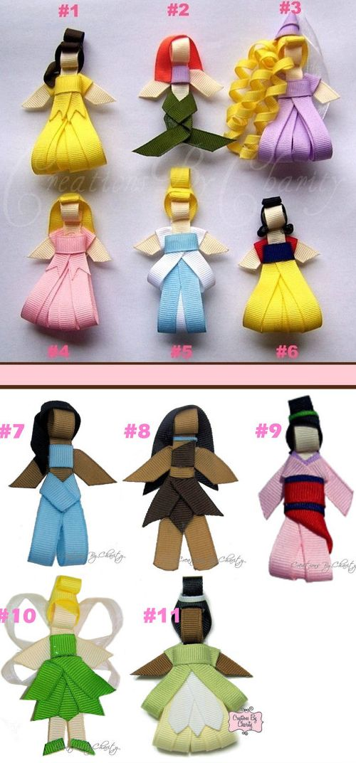 cute handmade disney princess hair clips for my baby girl PRAISE THE LORD pinterest will be around when I have kids