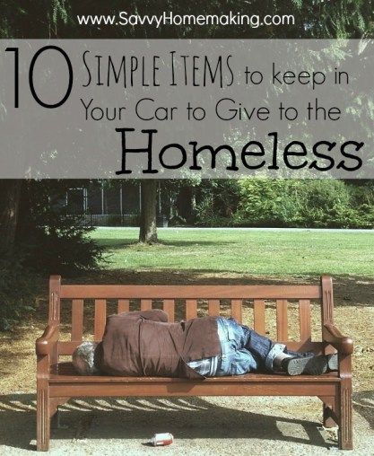 Homeless-10 Items to Have On Hand to Help
