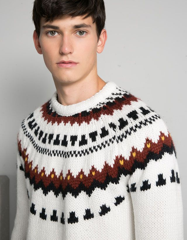 Man - New - New - Bershka Japan | Sweaters Nordic-Iceland Inspired ...