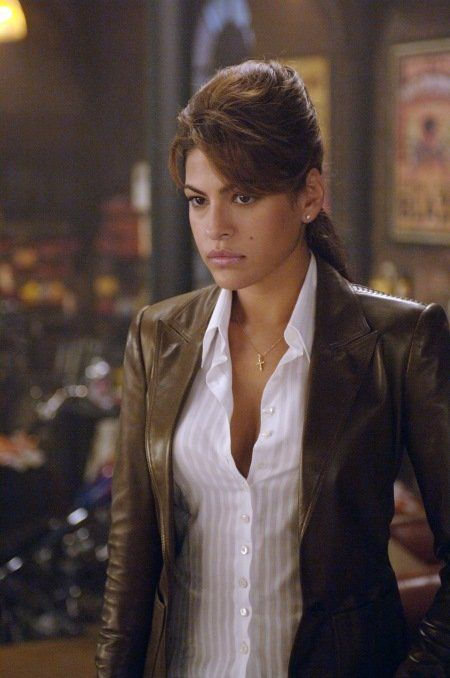 Eva Mendes (uncredited still from Ghost Rider 2007). How I picture Joe Dawson's wife--DEA Agent Carly Dawson.