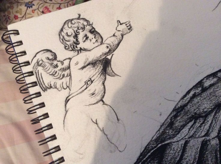 Cat and goose project - cherubs :)