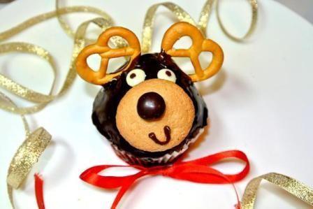"""Новогодняя выпечка: новогодние кексы """"Олени""""   BeautyInfo"""