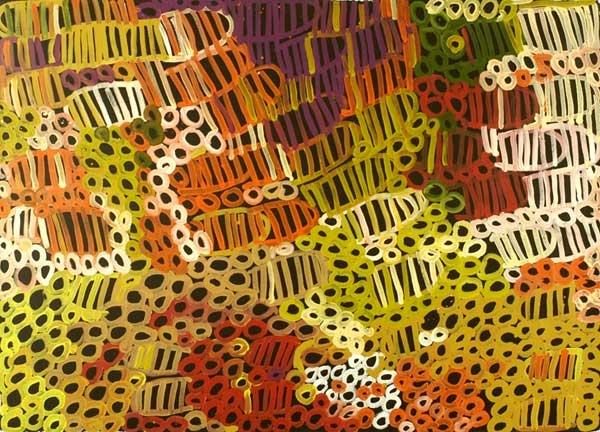 Bett Gallery Hobart - Minnie Pwerle - Bush Melon (body paint design)