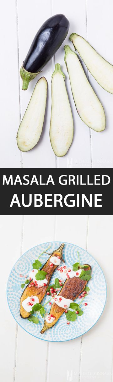 Masala Grilled Aubergine - {NEW RECIPE} Masala Grilled Aubergine is an Indian vegetarian recipe that can be served as a starter or main course depending on how much you prepare. Loved by everyone!