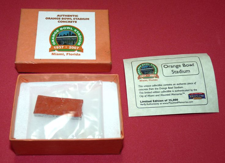 Authentic Miami Dolphins Football Orange Bowl Stadium Concrete Miami Florida