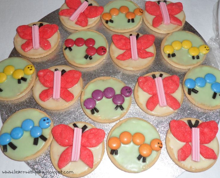 Learn with Play at Home Butterfly Birthday Party Ideas & 7 best Decorated arrowroot bikkies images on Pinterest | Arrowroot ...
