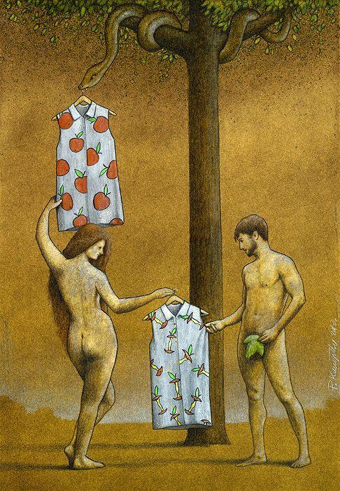 Pawel Kuczynski es un ilustrador de 36 años nacido en Szczecin, Polonia. Sus trabajos no pasan desapercibidos, con un trazo sencillo y contundente, cargado de crítica social e ironía. Pawel en sus ilustraciones critica el mundo político, social, económico y medioambiental en el que vivimos. Sus dibujos, con un toque de imaginación, reflejan la vida desde un punto de vista satírico. Su objetivo es claro, utilizar la ilustración para dibujar correctas reflexiones acerca de ese mundo incorrecto…