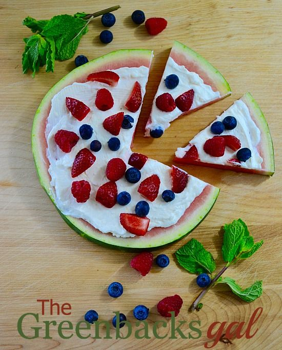 Watermelon Fruit Pizza on Pinterest | Watermelon Fruit, Watermelon ...
