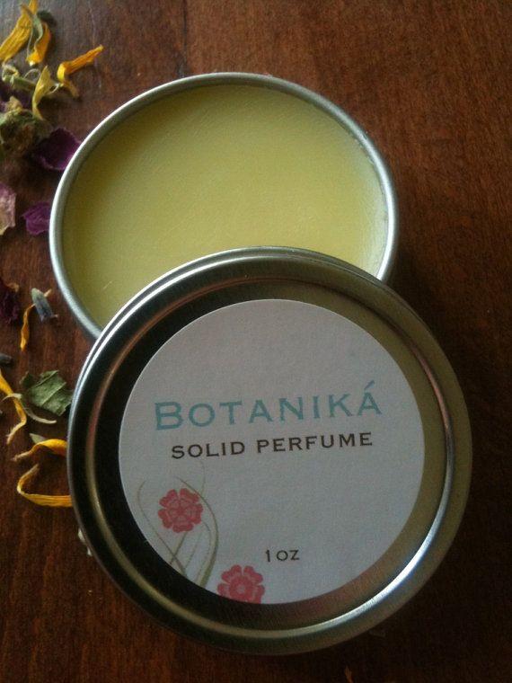 VANILLA SOLID PERFUME  Vanilla BeanNaturalVegan by BotanikaBeauty, $7.95