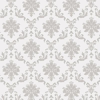 Discreto, quase da cor da parede. Usar em parede e teto.  PAPEL DE PAREDE - CASABELLA - MURESCO- 53 CM X 10 MT