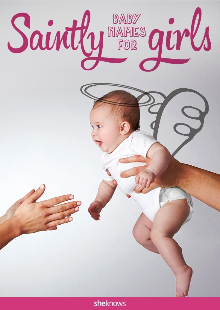How sweet! Heavenly baby names for little girls, all inspired by saints!