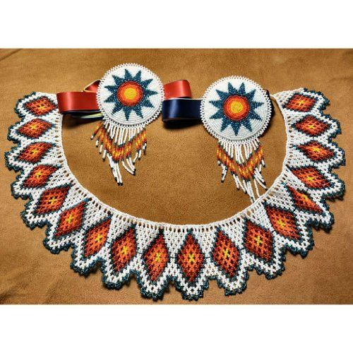 Choctaw Beads: Beaded Set Three Piece Cold Fire Price : $250.00 Http